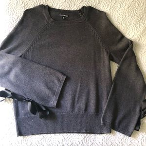 J Crew wool blend tie bow sweater